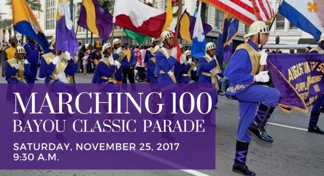 The Marching 100 to appear in the 2017 Bayou Classic Parade
