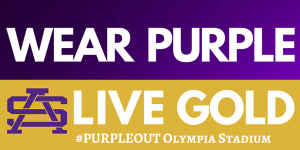 Twitter Purple Out olympia
