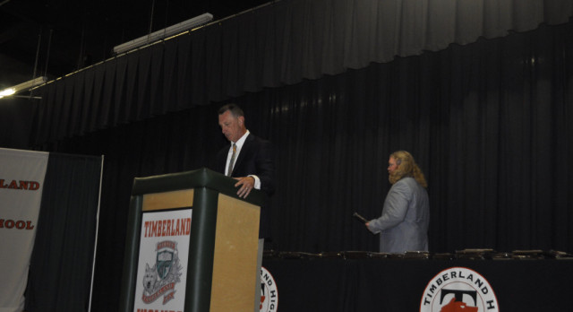 Timberland awards students during its annual Athletics Awards Ceremony