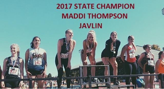 Maddi Thompson: 2017 State Champion!