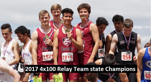 Boys 4×100 State Champions