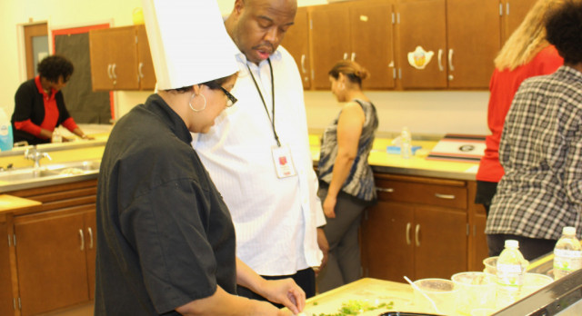 Glenville Staff Goes Gourmet Cooking