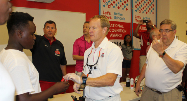 Football Players Receive State of The Art Mouthpieces
