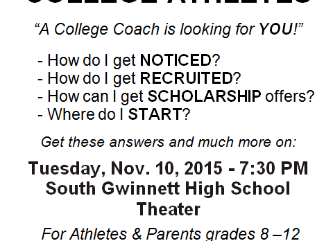 ATTENTION ALL ATHLETES & PARENTS!