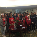 SGHS Girls Basketball Teams Volunteer at Eastside Gardens