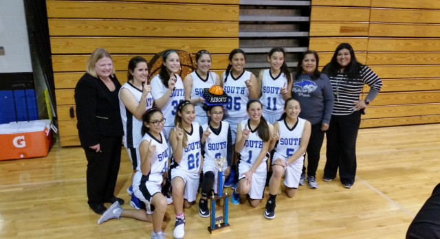 7th Grade A Team Lady Rebcats District Champs!