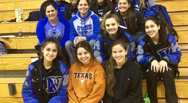 Lady SaberCat Varsity and JV team support the Lady Rebcats!