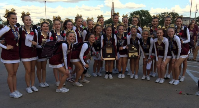 Blanchard Cheer Class 4A Academic State Champions
