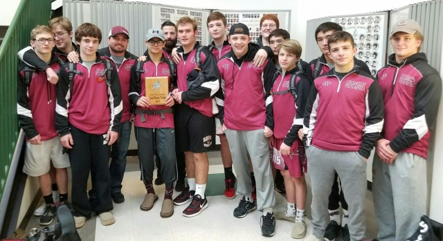 Blanchard High School Varsity Wrestling finishes 3rd place