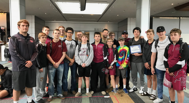 Blanchard High School Wrestling finishes 5th place