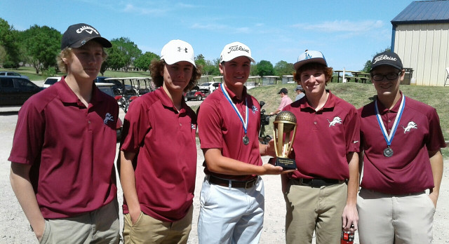 Blanchard High School Boys Varsity Golf finishes 1st place in Marlow Tournament