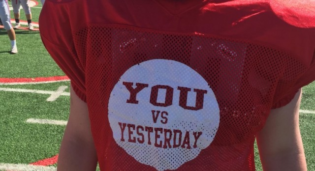 'YOU vs. YESTERDAY' one of spring ball themes.