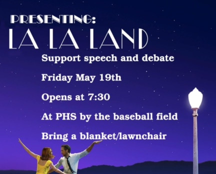 Support Speech and Debate with a MOVIE UNDER THE STARS!