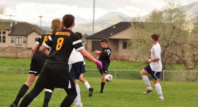 Wasatch High School Boys Varsity Soccer beat Salem Hills High School 4-0