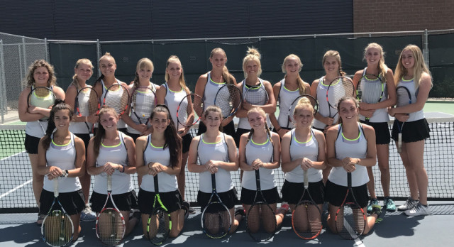 Girl's Tennis Volleys past Salem Hills