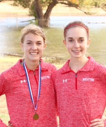 Gilmore and Houlden Representing Lady Tiger Cross Country at State Meet