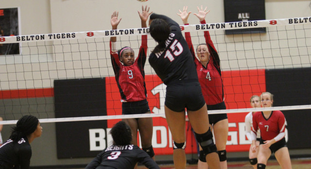 Belton sweeps Heights, tied with Ellison for third place with two games to play