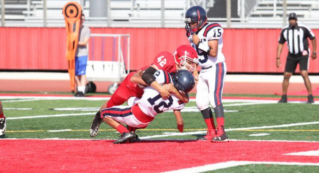 Freshman Grey defense allows just 70 yards in 28-0 win over East View