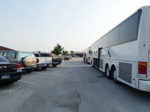 Buses arrive at 8:15 AM to transport Varsity Football to Arlington.