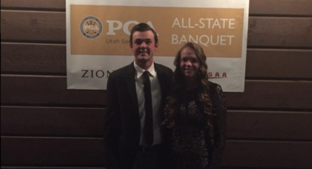 Katie Nyhus & Brock Stanger Honored at All-State Golf Banquet