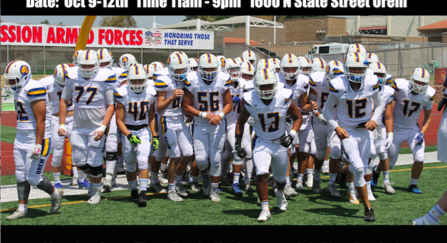 Orem High Football Fundraiser at Pizza Pie Cafe (1600 N. State St.)