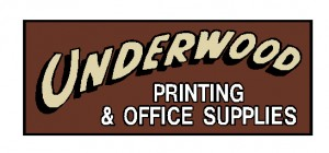 Underwood Printing Sign