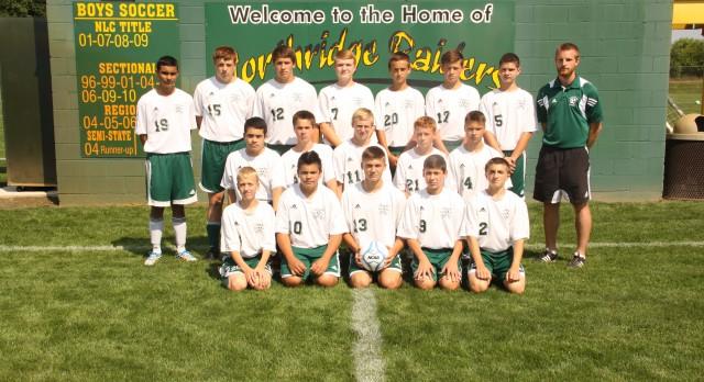 Northridge High School Soccer JV Boys beats Bethany Christian High School 1-0