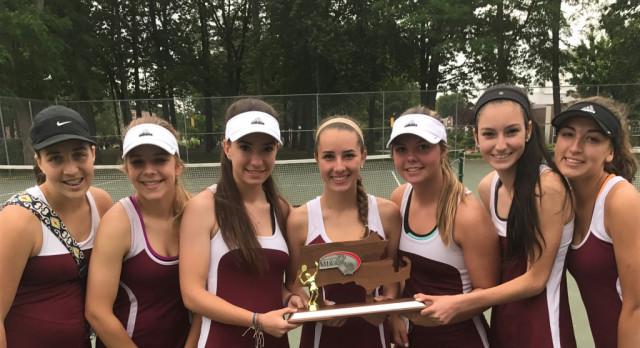Ludlow High School Girls Varsity Tennis falls to Longmeadow High School 4-1