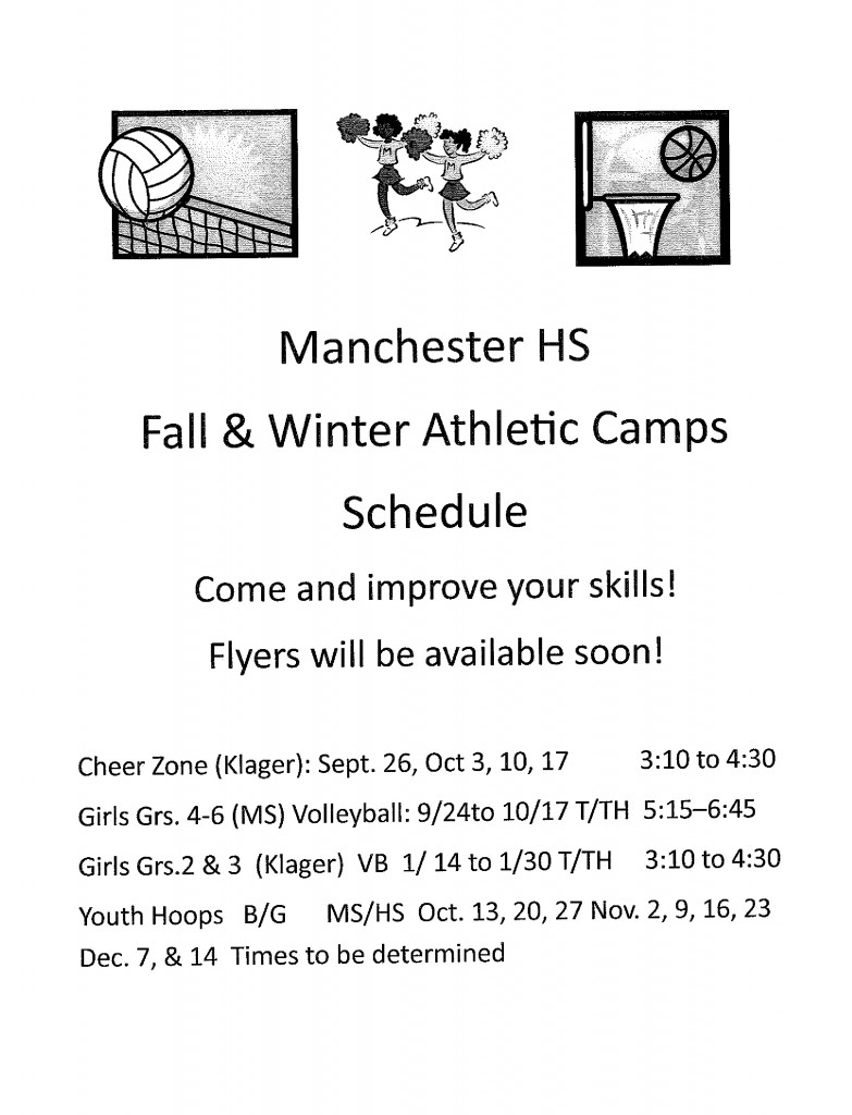 Fall and Winter Camp Flyer