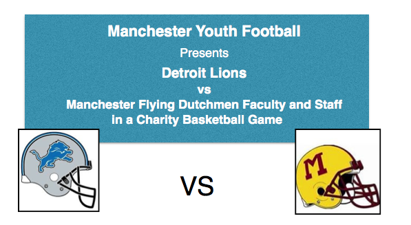 Detroit Lions vs. Manchester Staff Basketball Game