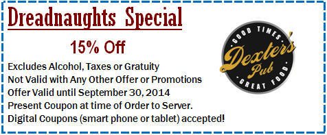 15% Off Deadnaughts Special!