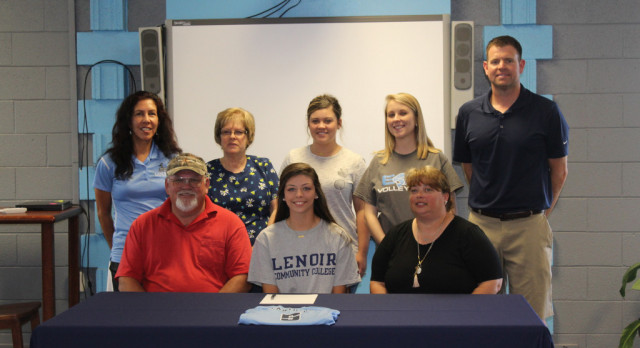 Katie Houston signs with Lenoir Community College