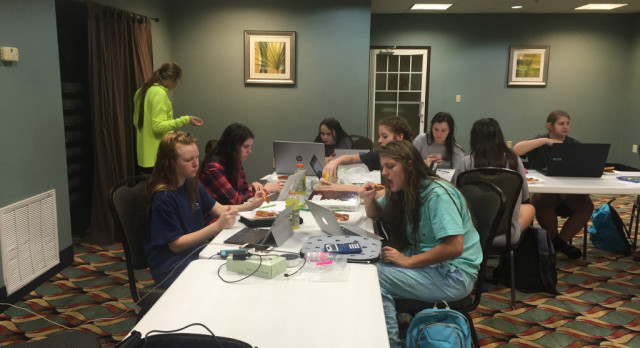 Lady Bucs Spend Evening in Study Hall