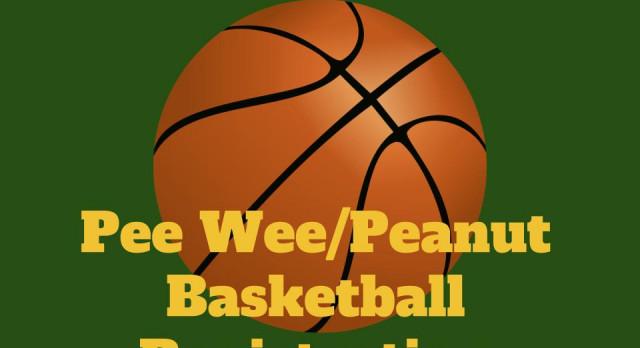 PeeWee/Peanut Basketball Registration
