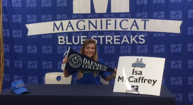 Isa McCaffrey Signs Volleyball NLI With Daemen College