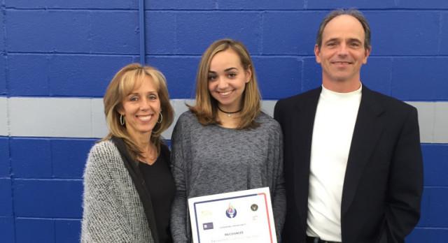 NJSIAA NAGWS Award – Alyssa Lever