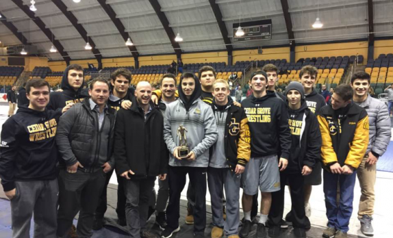 Wrestling takes 2nd in Essex County Tournament / Clarizio 3-Time Champ
