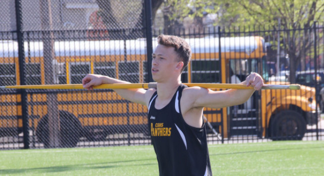 Sawyer Moe wins Sectional Championship in Javelin