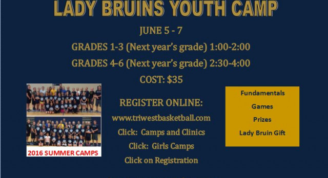 LADY BRUIN BASKETBALL YOUTH CAMP