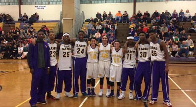 Basketball Seniors Honored Against Allegan