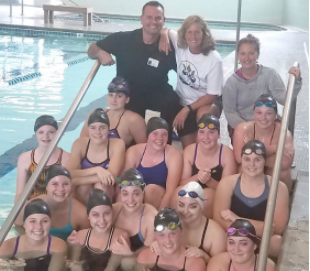 Bronson Wellness Center Assists High School Girls' Swim Team