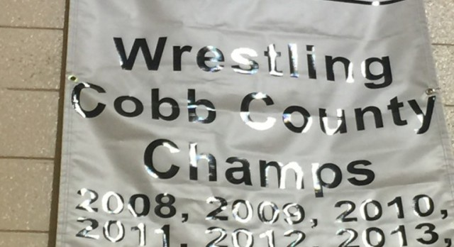 Pope Wrestlers Bring Cobb County Championship back to Pope