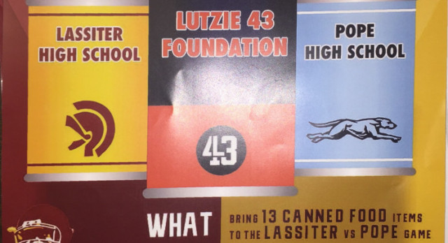 """13 Can Make a Difference"" Food Drive at Lassiter"