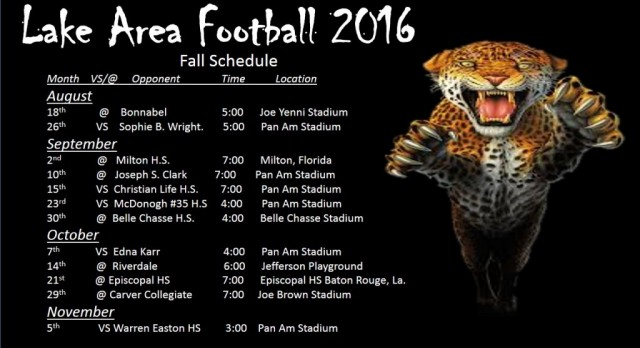 Official 2016 Football Schedule