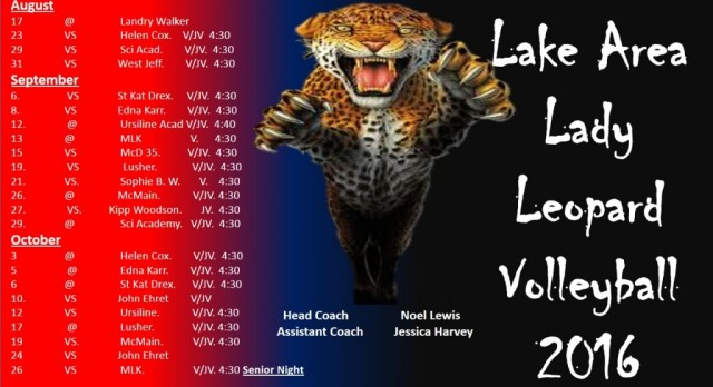Official Volleyball Schedule