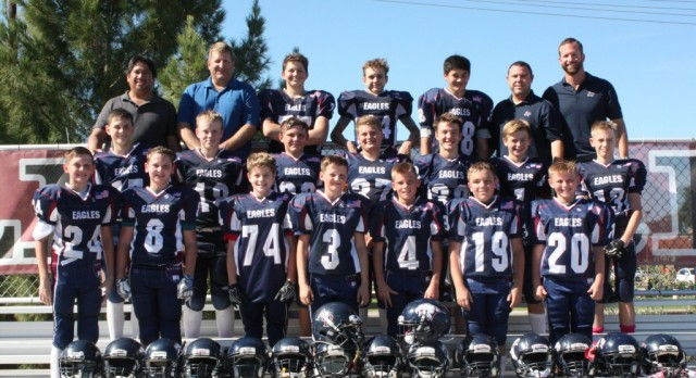 AP MS Football Team Leaving it all on the Field.