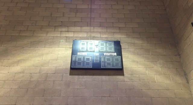 Marquez Family Donates New Scoreboard for the Gym