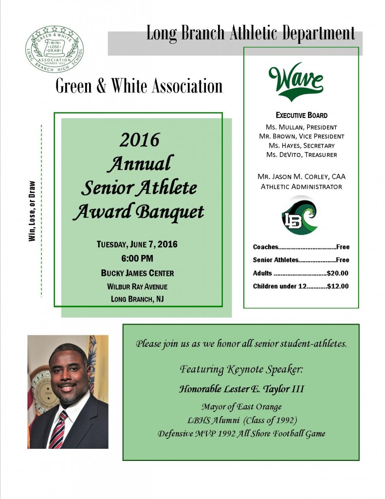 2016 Senior Athlete Award Banquet