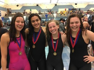 girls relay state swimming