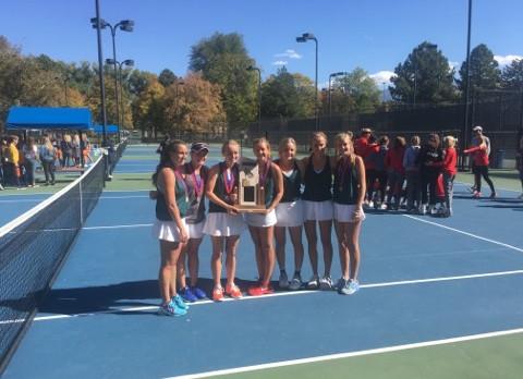 Girls Tennis Take State!!